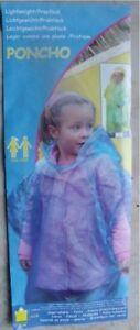 Regenponcho  Regenjacke  Kinderregenponcho Notfall Poncho Kinder Regencape