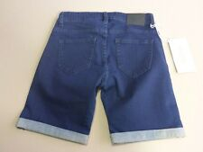 037 WOMENS NWT LEE RIDERS BUMSTER DK BLUE STRETCH DENIM SHORTS 6 $80 RRP.