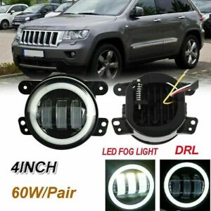 For 2011-2013 Jeep Grand Cherokee Clear Projector Fog Lights Bumper Lamps PAIR