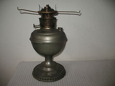 B&H Bradley and Hubbard Rayo Antique Oil Lamp Center Draft Embossed For Parts
