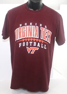 Vintage 1990s Virginia Tech Hokies Champion T Shirt Adult Medium - Maroon