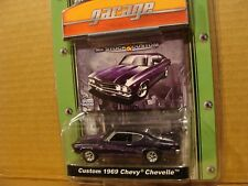 Greenlight Muscle Car Garage custom 1969 Chevy Chevelle purple flames