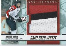 2012-13 ITG Heroes & Prospects Game used Jersey JONATHAN DROUIN #SSM-21 /5 Gold