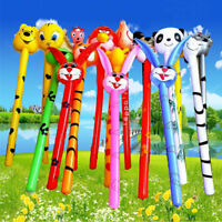 Cartoon Inflatabel Animal Long Inflatable Hammer Stick Children Outdoor Toys LJ
