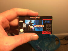 Nosferatu SNES * Cartridge Sticker Label Replacement * Super Nintendo