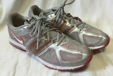 NIKE Women's Air Max Trainers Shoes 9.5M Tennis Sneakers Fly Wire Pink Silver