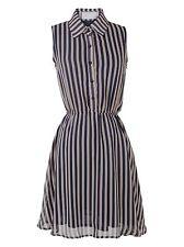Chiffon Polo Neck Shirt Dresses