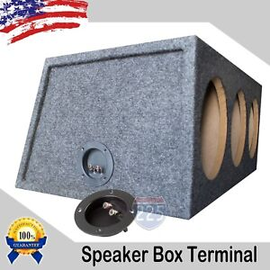 """(2) 4"""" SUBWOOFER SPEAKER ROUND BOX TERMINAL SCREW CUP CONNECTOR BINDING POST US"""
