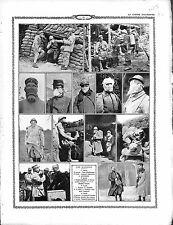 Poilus Soldats Masque Gaz Gas Mask Poste Téléphonique Général Franchet 1915 WWI