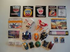 Transformers G1 Lot Ratchet Strafe Shrapnel Wheelie Seaspray Warpath plus more
