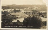 Searsville Lake CA Observation Point c1915 Real Photo Postcard rpx
