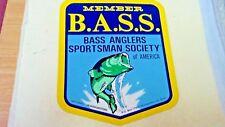 "Bass Anglers Sportsman Society Of America, Member, Sticker, 4-1/2 X 3-5/8"""