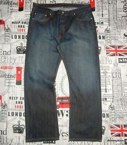 mens *W39-40 L32 Levi's 758 Red Tab Jeans Loose Relaxed Fit Indigo Blue Denim