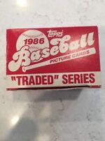 1986 TOPPS TRADED SERIES BASEBALL SET, NEVER OPENED