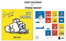 Simons Cat Official Calendar 2020 + Metal Machine Fridge Magnet