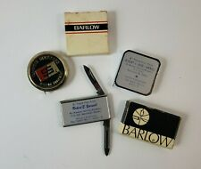 Vintage Lot Advertising Knives & Rulers - 2 Barlow in their Box + 1 Other Ruler