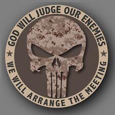 "Punisher Camo Marine Military Die Cut Decal Sticker Car Truck 4"""
