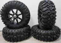 "MSA Black Diesel 15"" ATV Wheels 28"" MotoClaw Tires Can-Am Renegade Outlander"