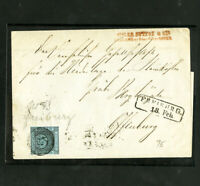 Baden Early Stamp Cover With 4 Margins