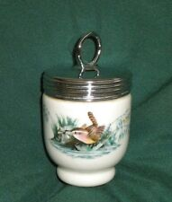 "SINGLE EGG CODDLER, POT,JAR, ""BIRDS""  VERY OLD! ROYAL WORCESTER, SMALL THREADS"