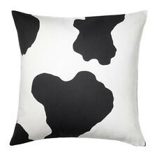 "IKEA Cushion Cover Black White IKEA Ranveig Designer 20x20"" Pillow Cover NEW"