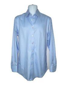 Charles Tyrwhitt Mens Slim Fit Non-Iron Dress Shirt Powder Blue size 15 1/2 39