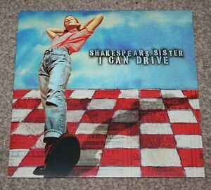 """SHAKESPEARS SISTER I CAN DRIVE 1996 UK 7"""" LTD,NUMBERED, RED, LONDON LON 383"""