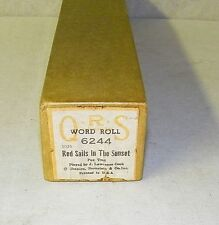 Vintage QRS Player Piano Word Roll Red Sails In The Sunset 6244 Fox Trot