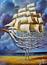 RAFAL OLBINSKI Original HAND Signed Poster Compulsive Dreamer Art Exhibition NYC