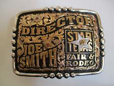 Star Texas Fair Director championship cowboy rodeo belt buckle