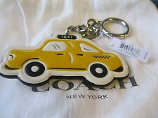 Coach NYC Taxi key fob, purse charm, leather and silver, SOLD OUT, NWT