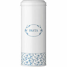 New Tall Blue Rose Pasta Canister Kitchen Spaghetti Storage Jars Tin Container