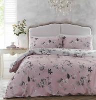 Dreams & Drapes Grace Pink Reversible Double Floral Duvet Bedding Set