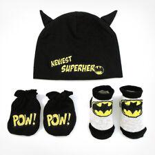Dc Comics Baby Boys Batman Take-Me-Home Gift Box Set, Black, 0-3 Months