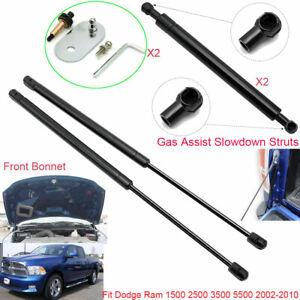 For Dodge Ram 1500 2002-2010 Front Hood +Tailgate Assist Slowdown Gas Struts X4