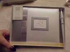 New 25th Anniversary Guest Book Silver With Pen