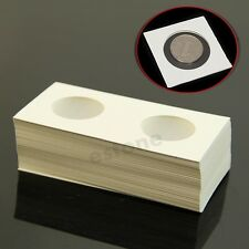 """Hot 50pcs 31.5mm Lighthouse Stamp Coin Holders Cover Case Storage 2X2"""" Flip"""
