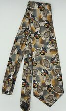 Men's Necktie Tie Mickey Mouse Paisley Preowned Mickey Unlimited Polyester