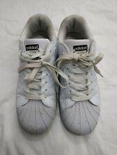 Adidas Womens Unisex Superstar White Black Stripe Trainers Size 6  #2B1