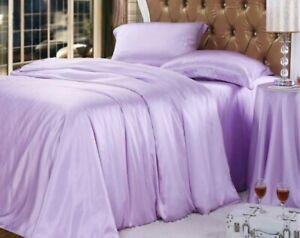4pc 22mm 100% Silk Duvet Quilt Doona Cover Fitted/Bottom Sheet Pillow Cases Set