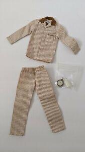 1960's Barbie KEN SLEEPER SET #781 Mint Pajamas w/ Glass of Milk & Alarm Clock