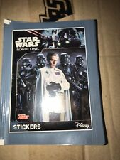 More details for topps stickers star wars rogue one, disney box 50 packs