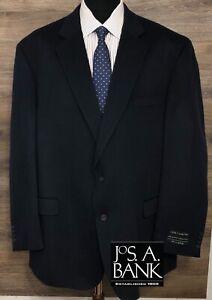 NWT JOS A BANK Men's 100% Camel Hair Blue 2-Button Blazer Sport Coat Jacket 54L