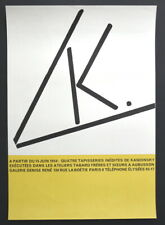 Affiche. Exposition Tapisseries Kandinsky. Galerie Denise René. 1954. Tabard