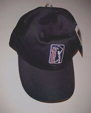 0b95409214b PGA Tour Swinging Golfer Design Logo Black Baseball Cap One Size Fit All New