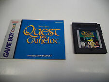 Quest for Camelot (Nintendo Game Boy Color) Cartridge with Instruction Manual!