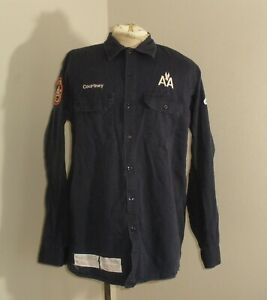 BULWARK Mens FR Fire Flame Resistant Long Sleeve button down Shirt Large