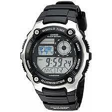 CASIO AE-2100W-1A BLACK WATCH FOR MEN - COD + FREE SHIPPING