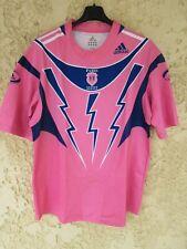 Maillot rugby Stade Français Paris SF rose 2006 ADIDAS vintage shirt away XL