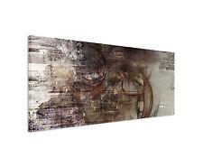 150x50cm Panoramabild Paul Sinus Art Abstrakt braun grau weiß Wohnzimmer